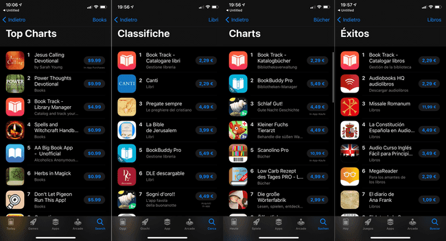 Book Track App Store Chart